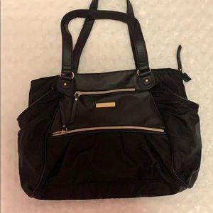 Handbags - Black gold large diaper bag